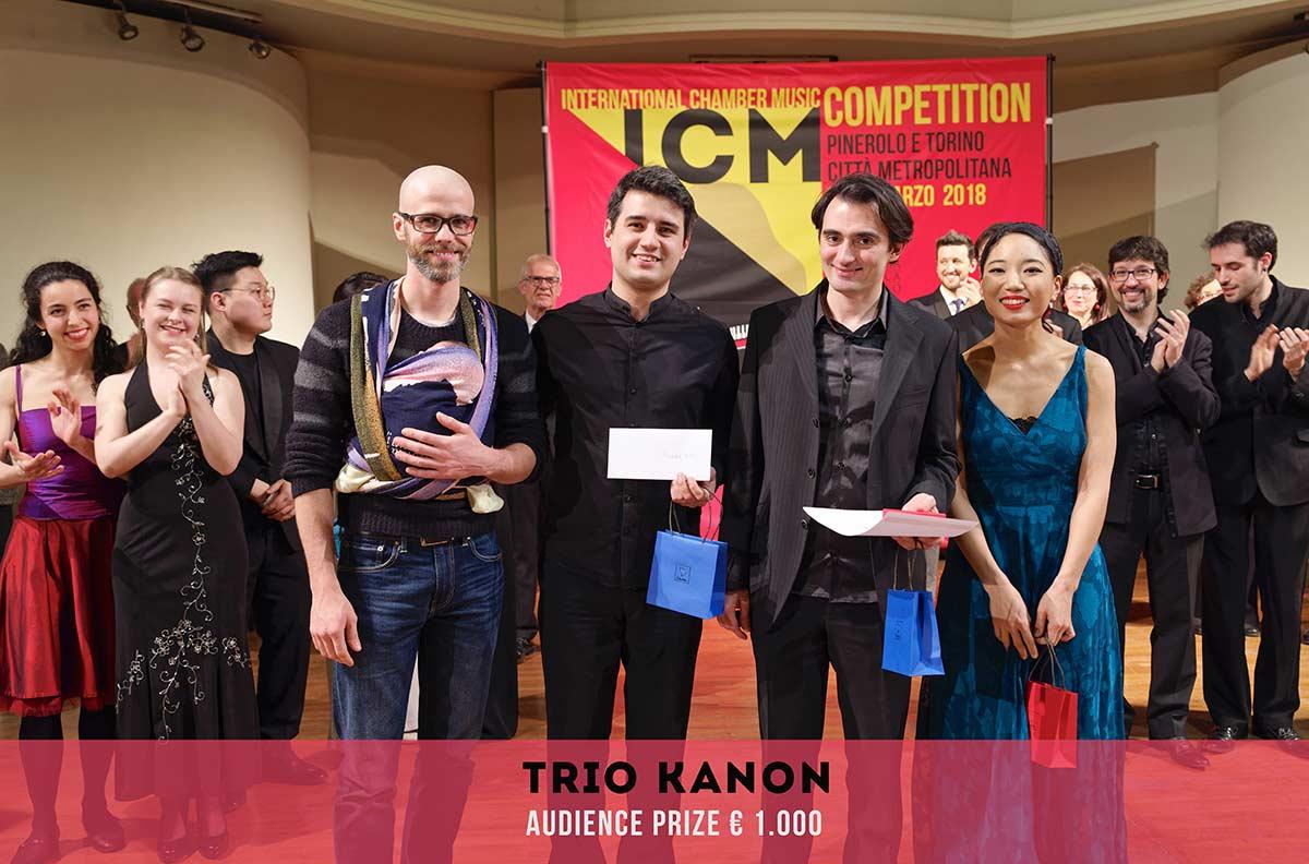 AUDIENCE PRIZE premio speciale bresso Trio Kanon International Chamber Music Competition Pinerolo e Torino Città metropolitana